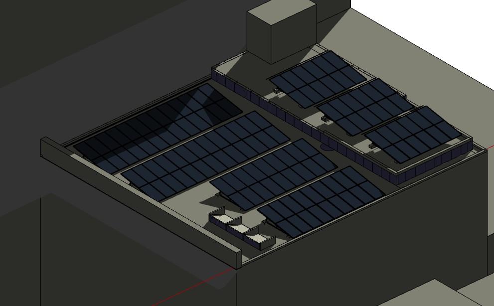 simulación proyección de sombras sobre Planta Solar Fotovoltaica3