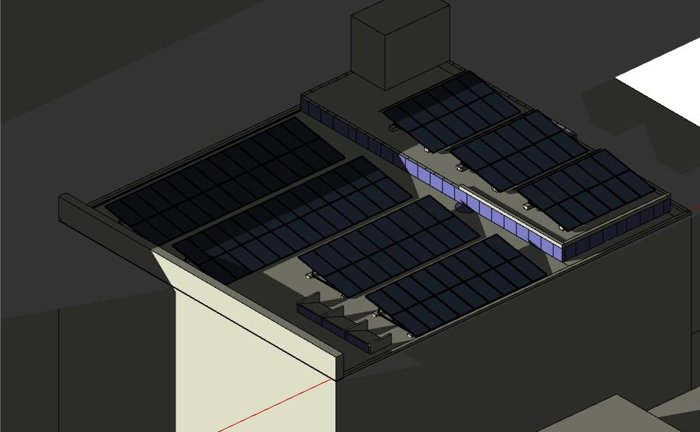 simulación proyección de sombras sobre Planta Solar Fotovoltaica4
