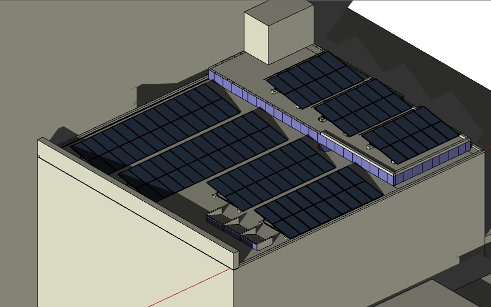 simulación proyección de sombras sobre Planta Solar Fotovoltaica5